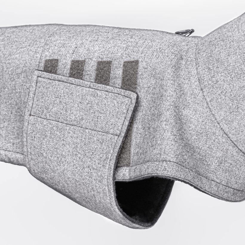 Cloud7 Hundemantel Brooklyn Flannel Gray Bulldogge Detail
