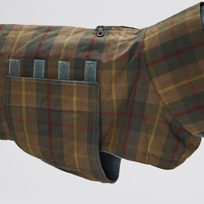 Cloud7 Hundemantel Brooklyn Waxed Tartan Detail