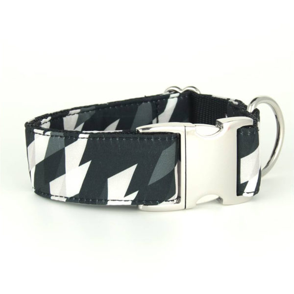 Brott Dog Halsband Black & White Large
