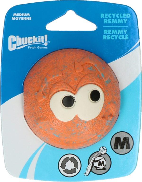 Chuckit-Hundespielzeug–Ball-Remmy-Orange-Verpackung