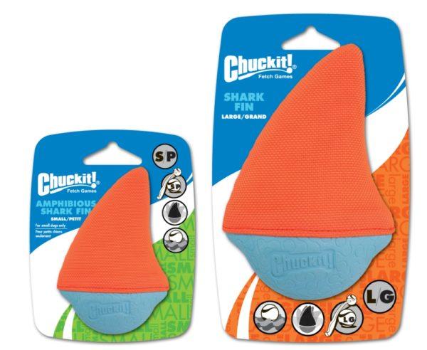 Chuckit-Schwimmspielzeug-Amphibious-Shark-Fin-small-und-large