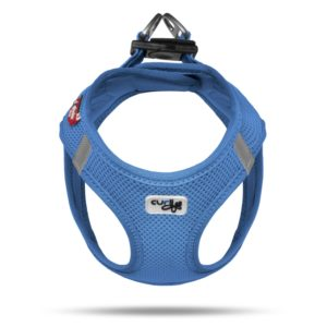 Curli-Brustgeschirr-Air-Mesh-Blau-frontansicht