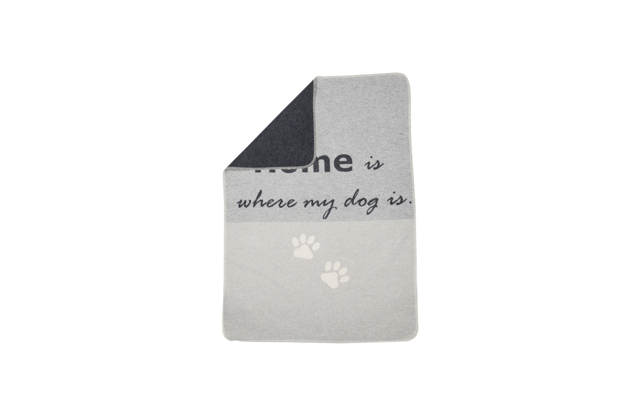 "David Fussenegger Hundedecke ""home is where my dog is"" beide Seiten"