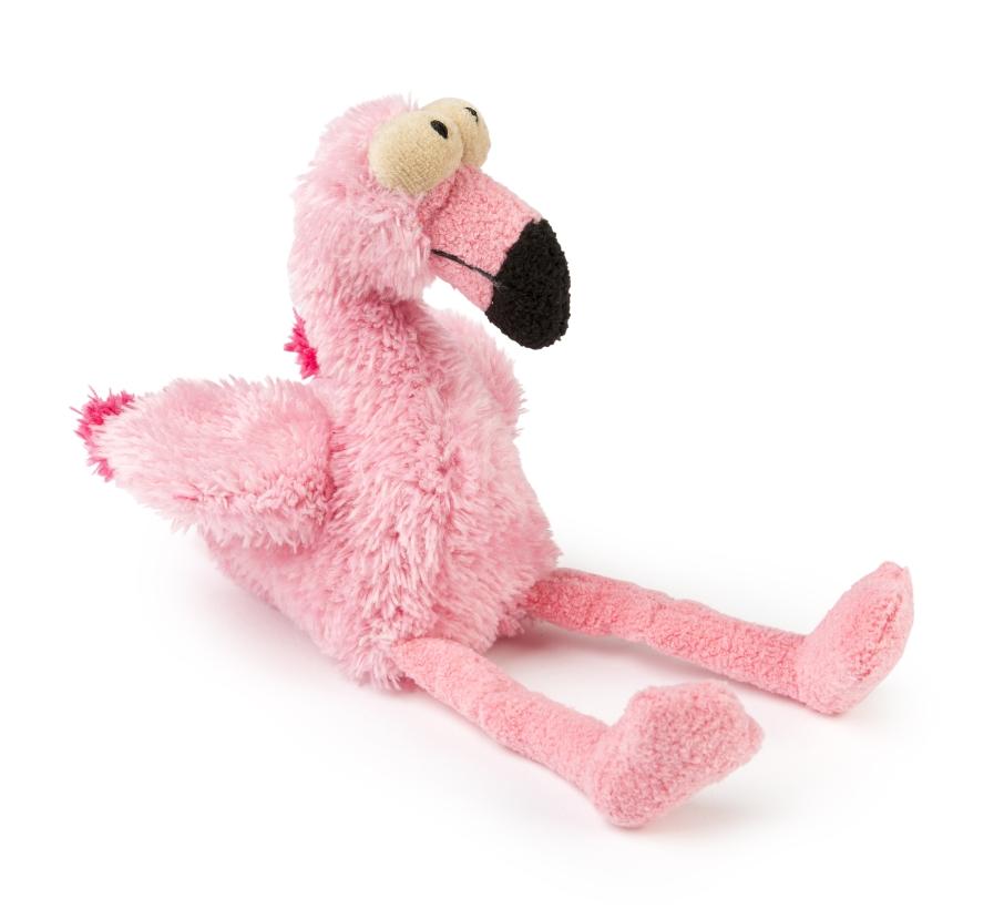 FuzzYard-Hundespielzeug-Flamingo-Seitenansicht