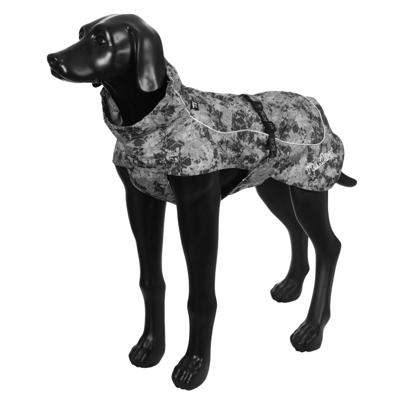 Rukka-Pets-Regenmantel-Drizzle-grau-auf-model