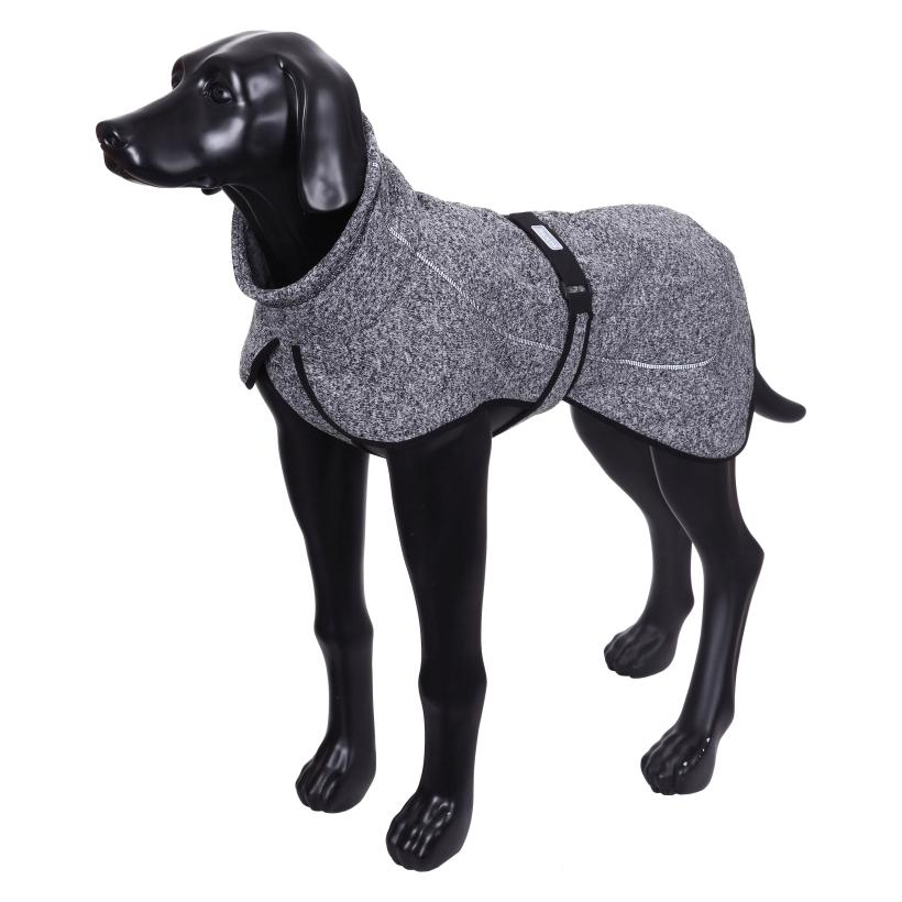 Rukka-Pets-Fleecejacke-Comfy-Grau-auf-model