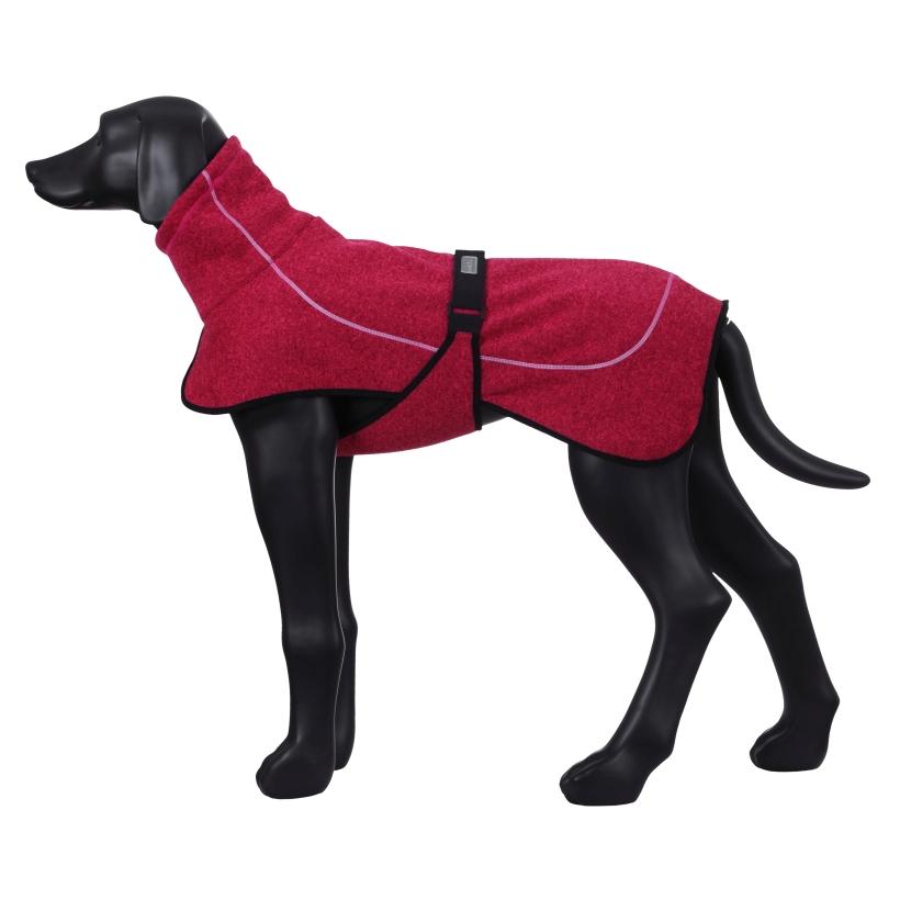 Rukka-Pets-Fleecejacke-Comfy-Pink-auf-model-seitenansicht