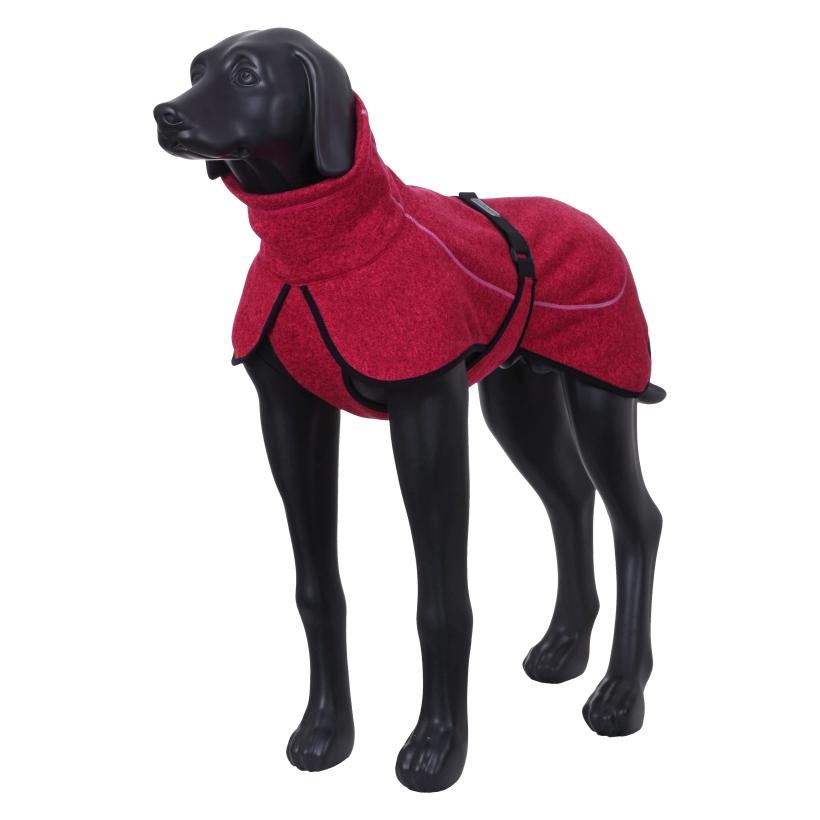 Rukka-Pets-Fleecejacke-Comfy-Pink-auf-model