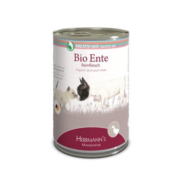 Herrmann's Manufaktur Nassfutter Kreativ-Mix Reinfleisch Bio Ente 400g