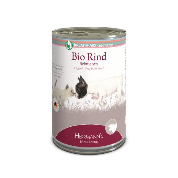 Herrmann's Manufaktur Nassfutter Kreativ-Mix Reinfleisch Bio Rind 400g