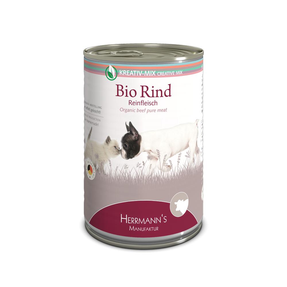 Herrmanns-Manufaktur-Nassfutter-Kreativmix-Reinfleisch-Bio-Rind-Reinfleisch