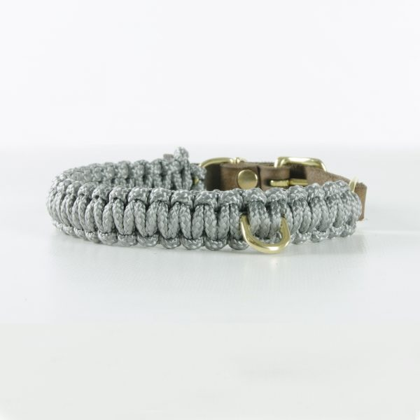 Molly & Stitch Halsband Touch of Leather Grey Gold Front