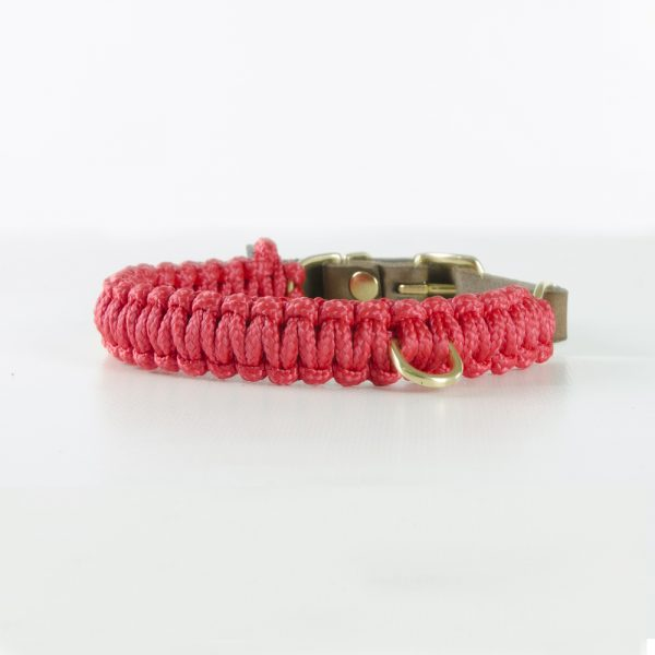 Molly & Stitch Halsband Touch of Leather Lipstick Gold Front