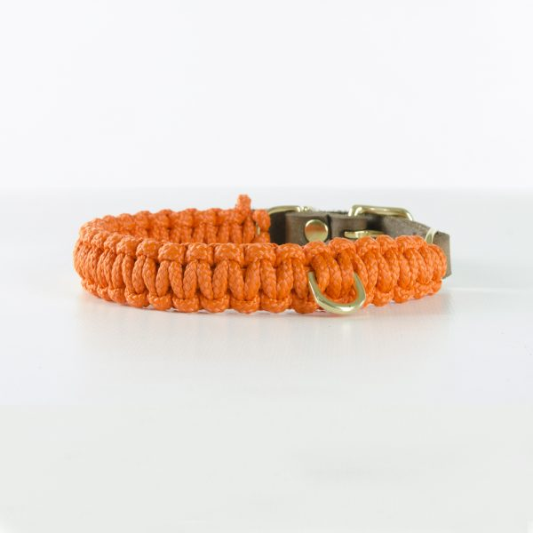 Molly & Stitch Halsband Touch of Leather Pumpkin Gold Front