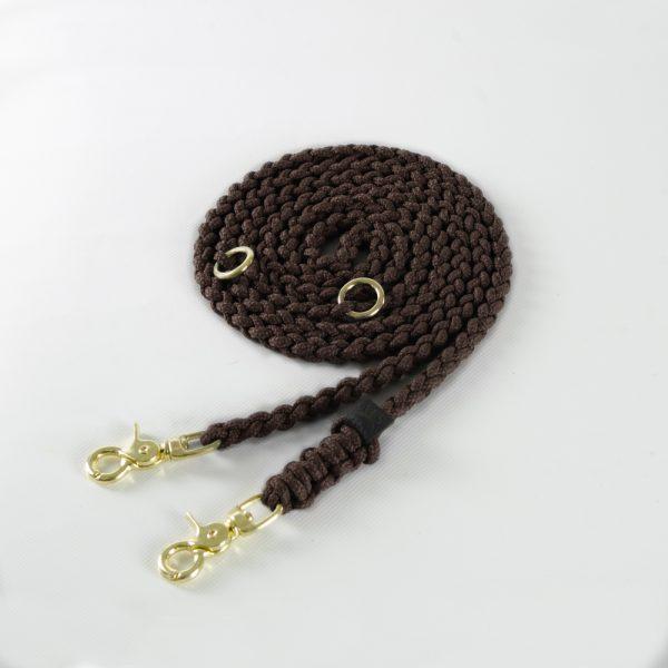 Molly & Stitch Leine Maritime Chocolate Gold