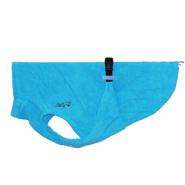 Chilly-Dogs-Bademantel-soaker-robe-Blau-seitenansicht