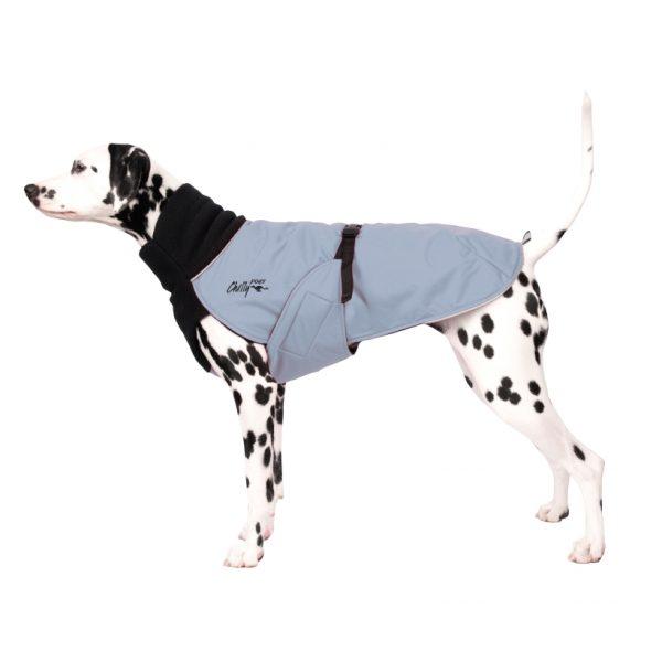 Chilly-Dogs-Great-White-North-Mantel-Schwarz-Grau-Dalmatiner-Seitenansicht
