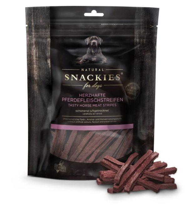 Snackies Leckerlis Herzhafte Pferdefleischstreifen 170g Packung