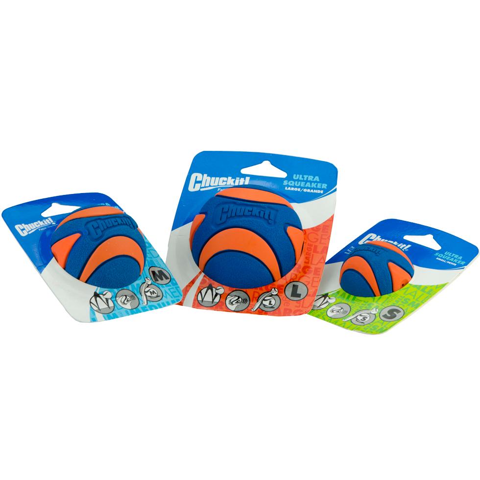 Chuckit-Ultra-Squeaker-Ball-Small-Medium-Large-mit-Verpackung