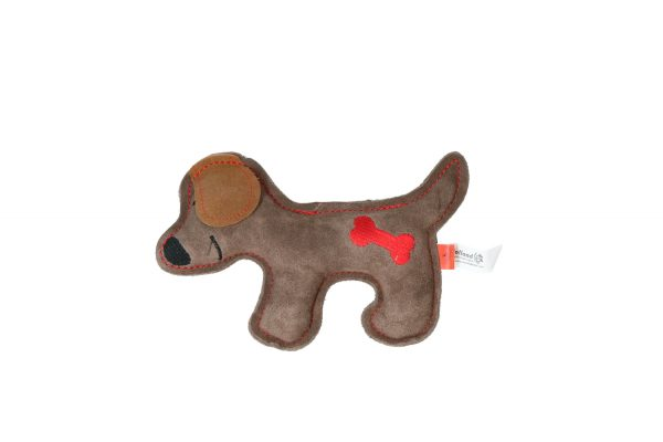 """Doggy Doodles Hundespielzeug """"Puppy"""" Braun/Rot"""